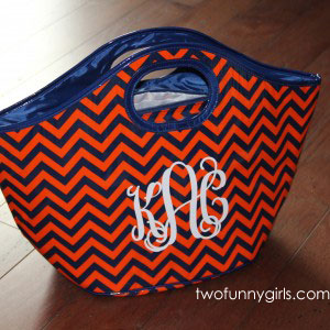 Chevron-Insulated-Cooler-Tote-Auburn-Tigers-Orange-Navy-Blue
